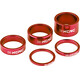 "KCNC Headset Spacer 1 1/8"" 3/5/10/14/20mm rosso"
